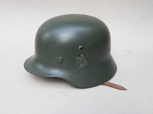 post war helmet