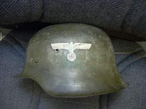 2 German Helmets, Flag, Pennant