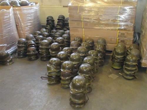 mother load of german helmets