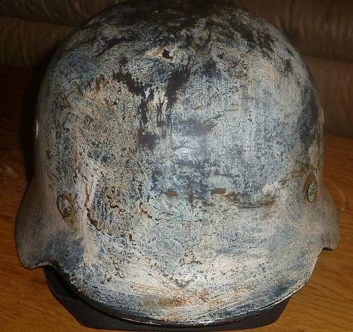 police helmet with whit camo