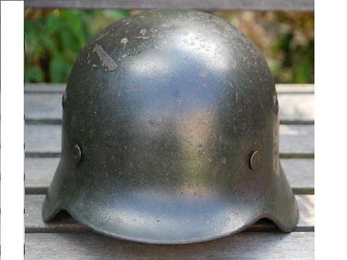 Stolen M35 Helmet. Rare oversized decal.