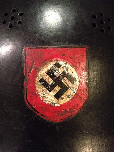Help with a german police parade helmet....i think
