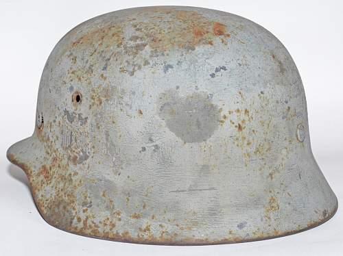 ET66 M40 Heer Coastal Artillery Helmet fromHKB 33/ 977 Rossland, Norway