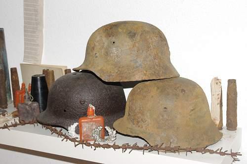 2 helmets found