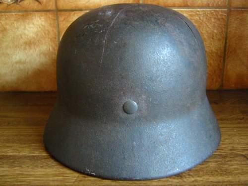 M40 SD battledamaged Luftwaffe helmet