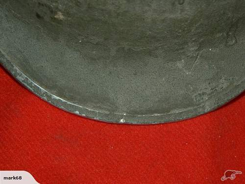 M1 Helmet Front Seam
