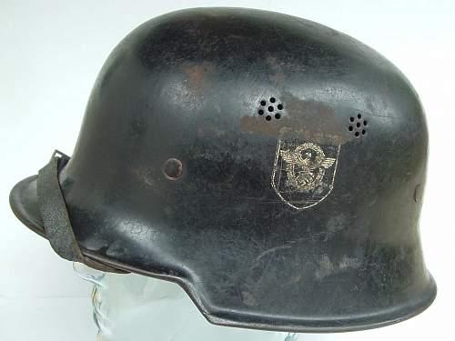 DD Civil Police Helmets 1 black, 1 Grey