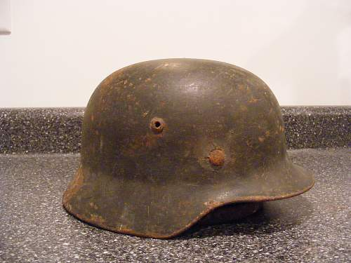 My German helmets.
