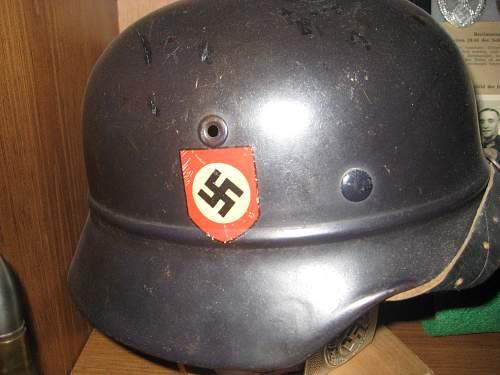 Beaded Helmet Polizei