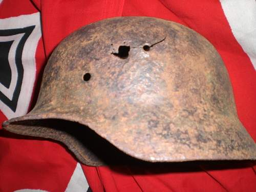 just saved helmet from a dumpster m-35 model