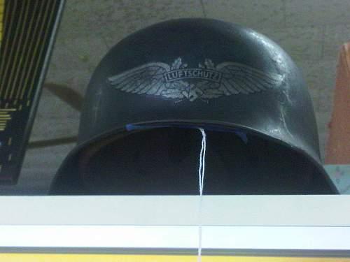 Strange Luftshutz Helmet..