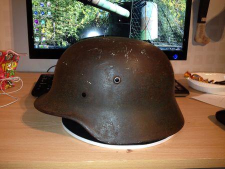 German helmet.