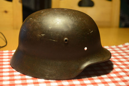 German helmet.
