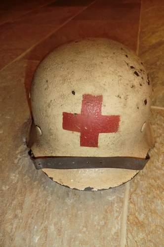M42 medics helmet from Jersey, Channel Islands.