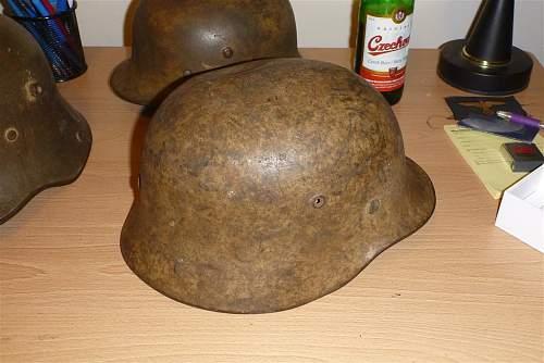 A (dirty) tan camo helmet