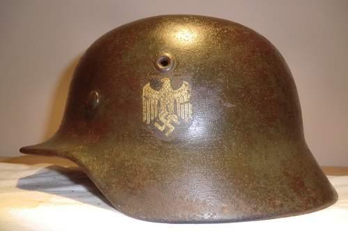 Not a Luftwaffe helmet.