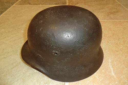 Named M.40 camo helmet
