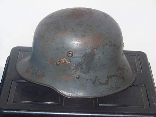 M17 Austrian rural gendarmerie helmet.