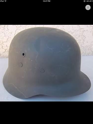 German helmet question