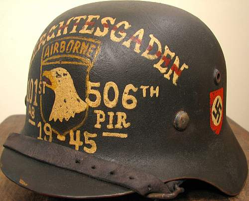 17th Airborne Painted Helmet