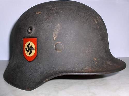 my new german police helmet
