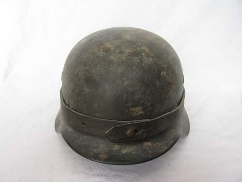 M40 Q66 Camouflaged Combat Helmet
