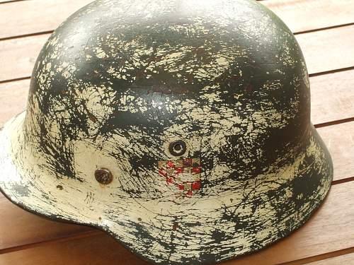 Double decal german croatian police helmet
