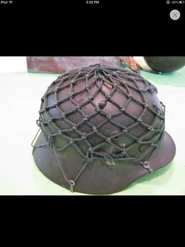 Ww2 german helmet net?
