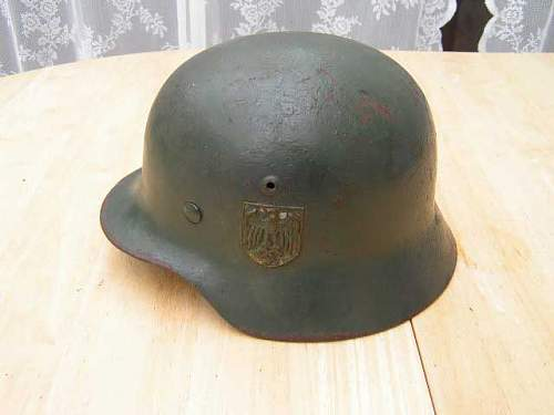German M35 double decal officer's helmet for sale