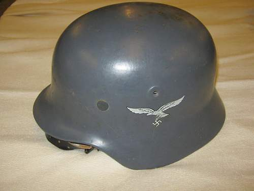 Fake luftwaffe helmet?