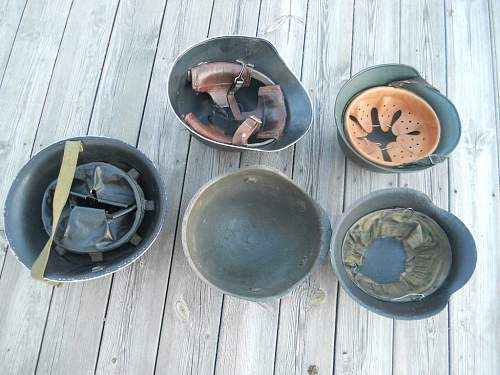 Lot with helmets M40, M42 etc.