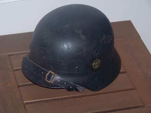 M40 beaded DD police helmet new addition to the collection