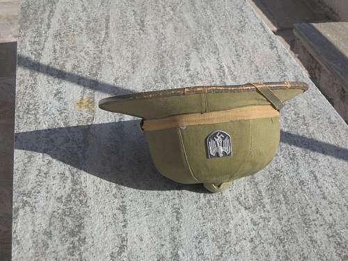 Broken pith helmet...