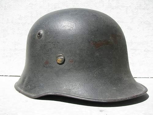 Combat Worn Medium Weight M34 Edelstahl Helmet