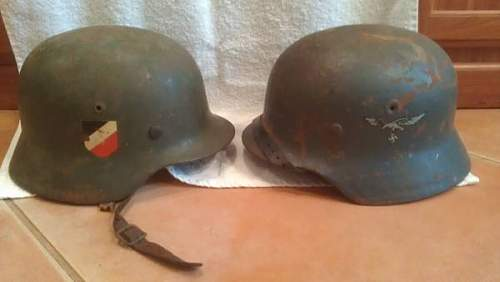 Two m35 Helmets for 800