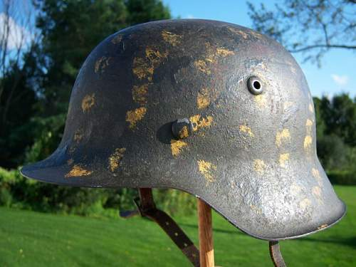 Camo/field painted helmet added to collection