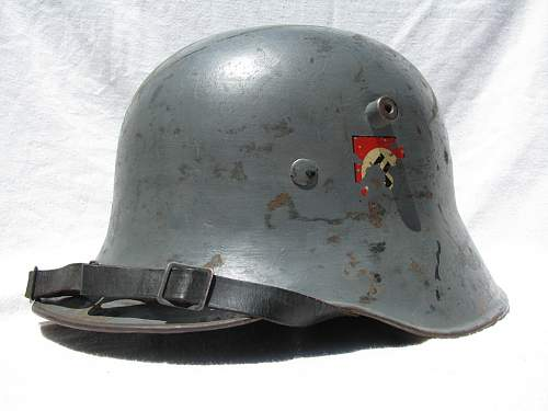 Reverse Double Decal Police Helmet - Commercial Droop Bill Shell