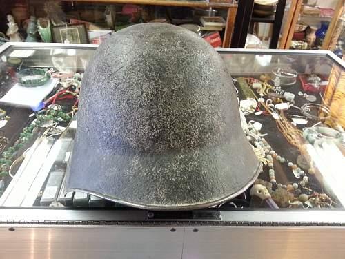 Maybe a German helmet?