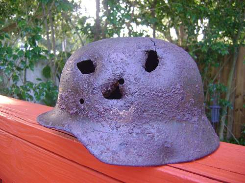 Battle damaged helmets