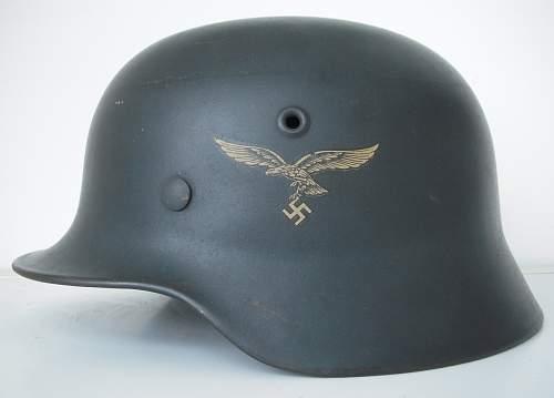Pristine M40 single decal LW helmet