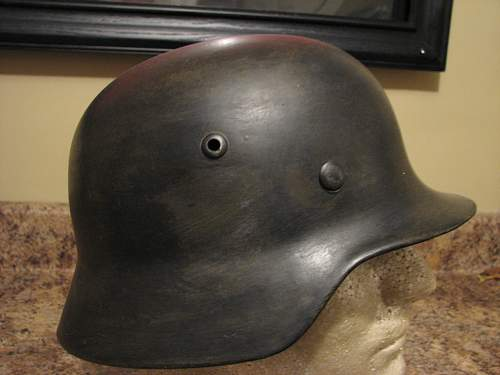 Destroyed helmet