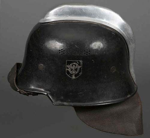 M34 civic firemans helmet