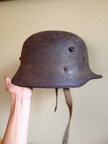 Rescued helmet from the dump