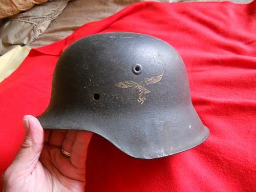 My Luftwaffe M42 single decal helmet