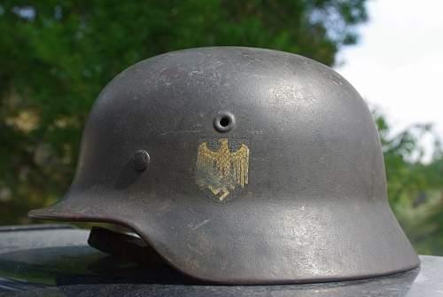 m40 single decal  helmet