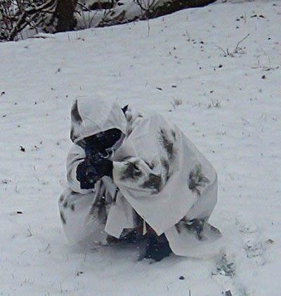 M35 Q64 Winter Camo & Snow Goggles.