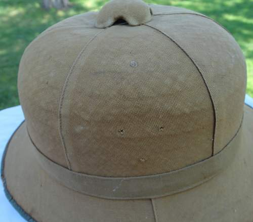 First model pith helmet
