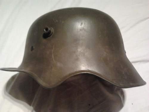 German Ear Cut out helmet