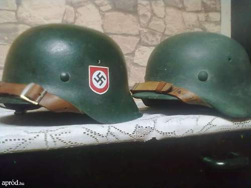 ss and wehrmacht helmets