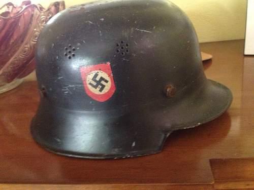 German police helmet. Real or fake?